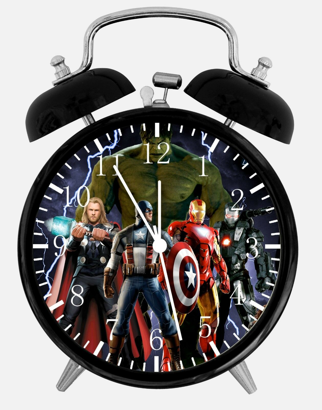 "The Avengers Alarm Desk Clock 3.75"" Room Office Decor E44 A Nice Gift"