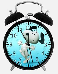 Snoopy Alarm Desk Clock 3.75 Home or Office Decor E372 Nice For Gift