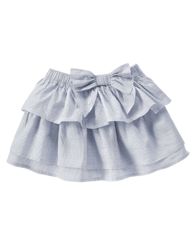 Gymboree NWT Cute on the Coast Stripe Bow Skirt Size 6-12-18-24 2T 3T 4T & 5T