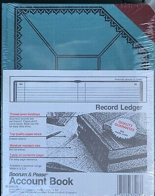 Boorum Pease 37 38-300-r Record Account Book 9-58 X 7-34 New