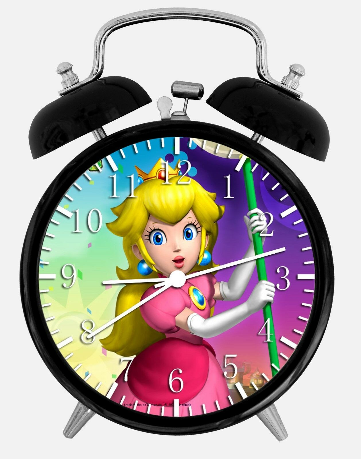 "Super Mario Peach Alarm Desk Clock 3.75"" Room Office Decor W146 Nice For Gift"