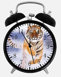 Tiger in Snow Alarm Desk Clock 3.75 Home or Office Decor E357 Nice Gift