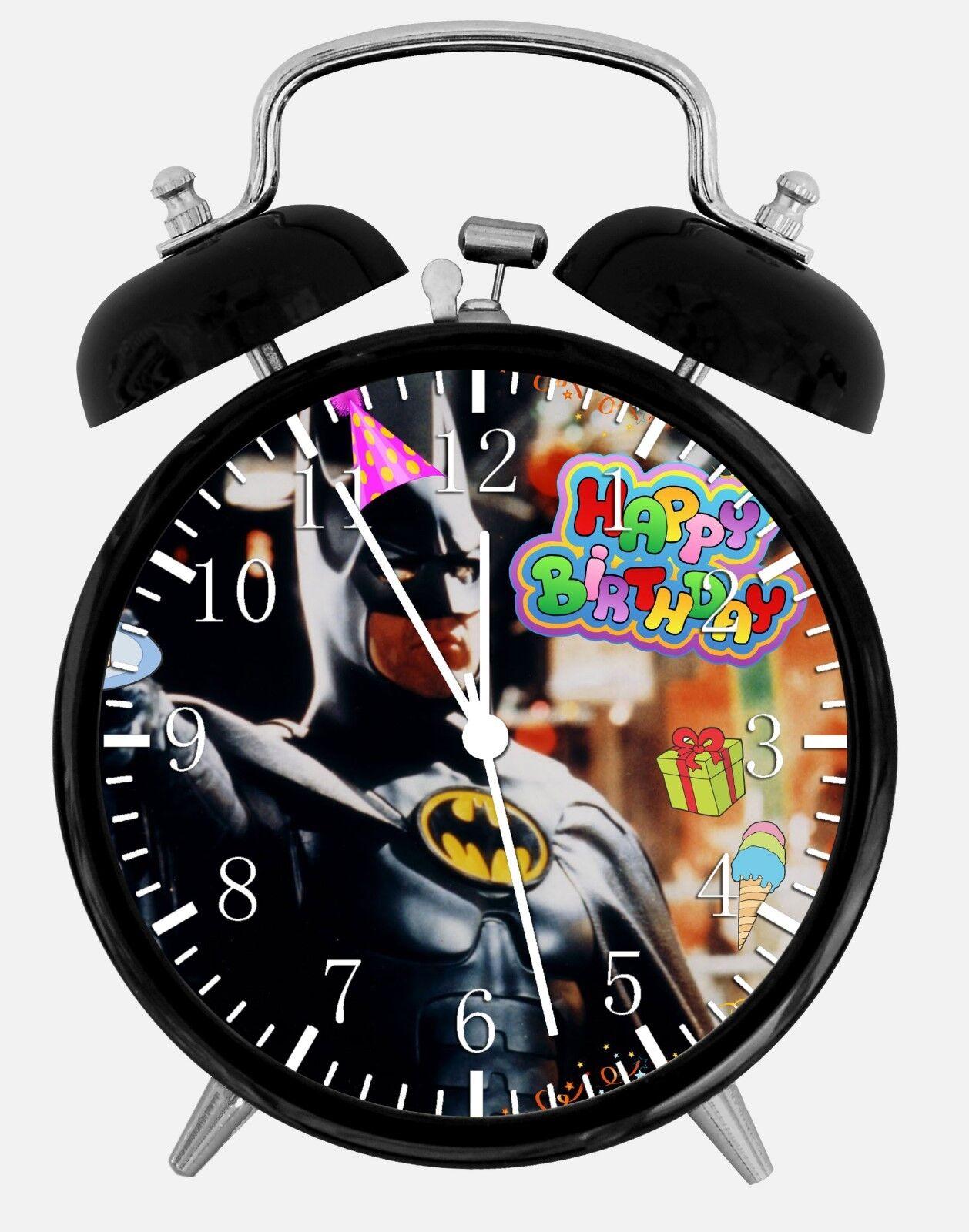 "Batman Birthday Gift Alarm Desk Clock 3.75"" Home or Office Decor E293 Nice Gift"