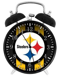 Pittsburgh Steelers Alarm Desk Clock Home or Office Decor F31 Nice Gift