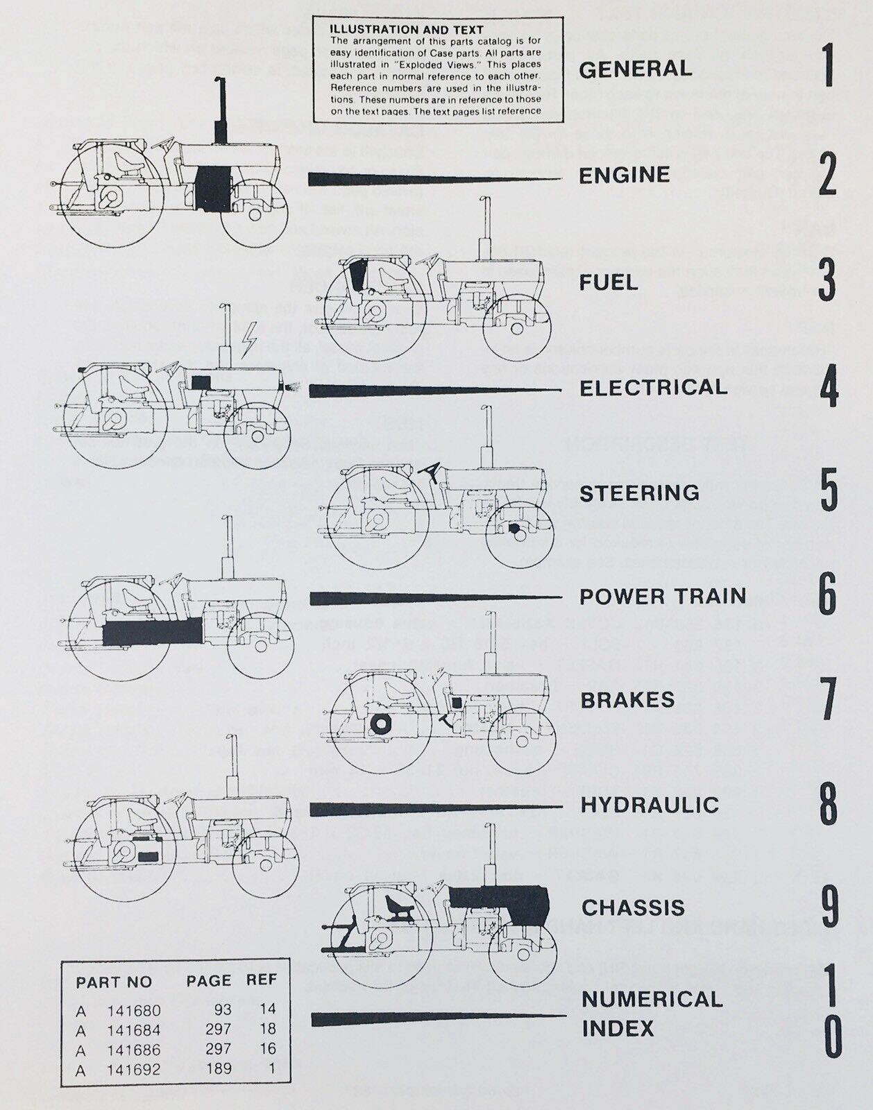 IH CASE 380B TRACTOR SERVICE MANUAL PARTS CATALOG SET