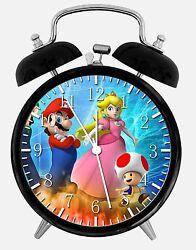 Super Mario Peach Alarm Desk Clock 3.75 Room Decor X36 Nice for Gifts Wake Up