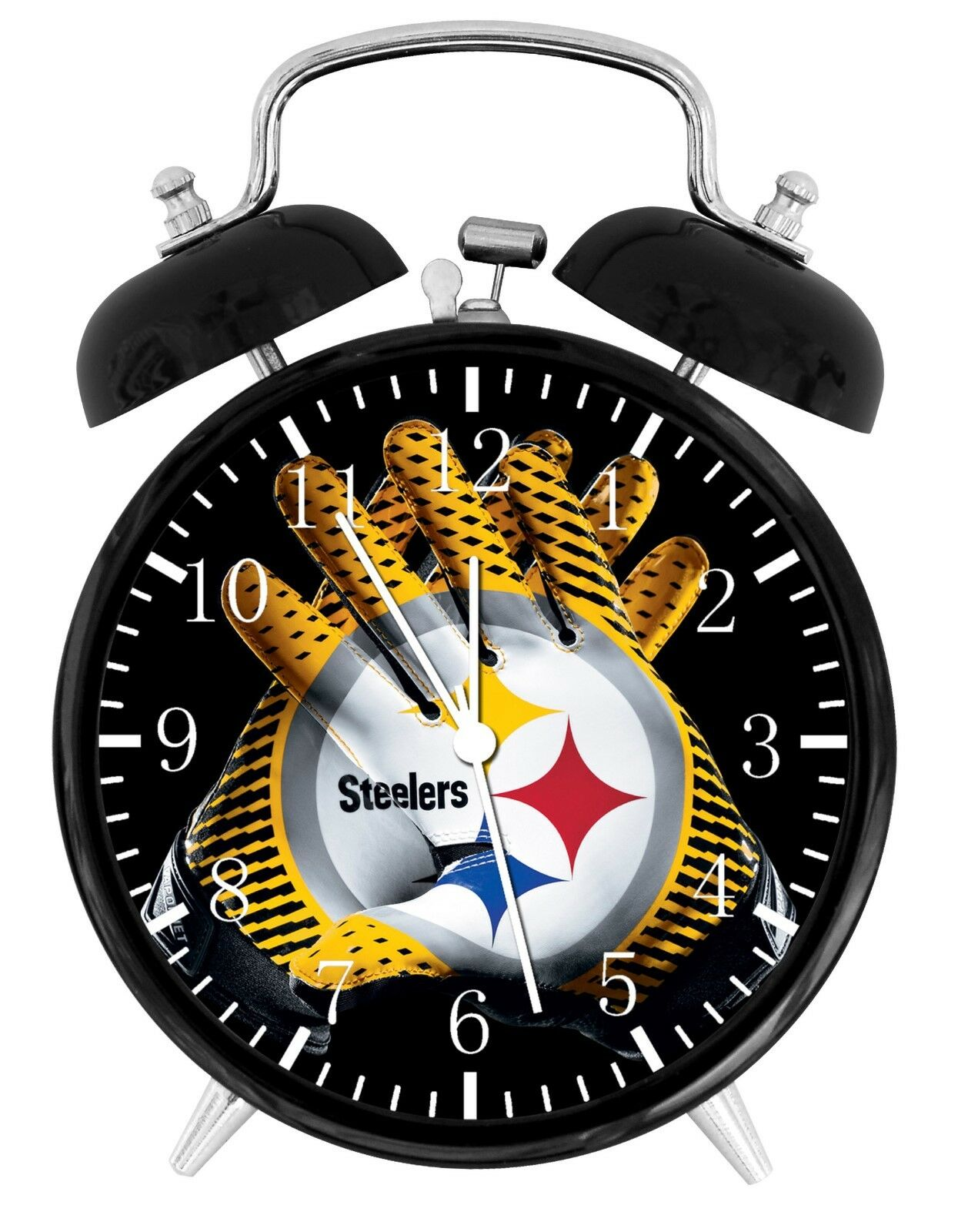 "Pittsburgh Steelers Alarm Desk Clock 3.75"" Home or Office Decor F07 Nice Gift"