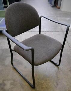 Charcoal Grey Visitors Waiting Room Chair With Arms Sled Base Melbourne CBD Melbourne City Preview
