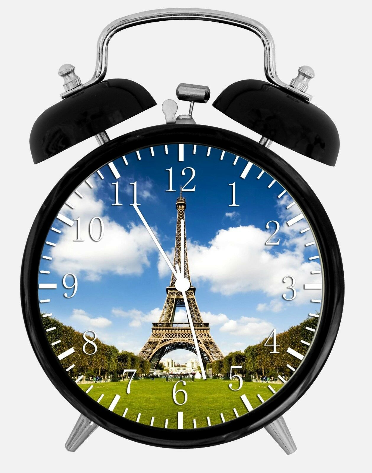 "Eiffel Tower Alarm Desk Clock 3.75"" Room Office Decor W03 Will Be a Nice Gift"