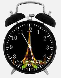 Eiffel Tower Alarm Desk Clock 3.75 Home or Office Decor E100 Nice For Gift