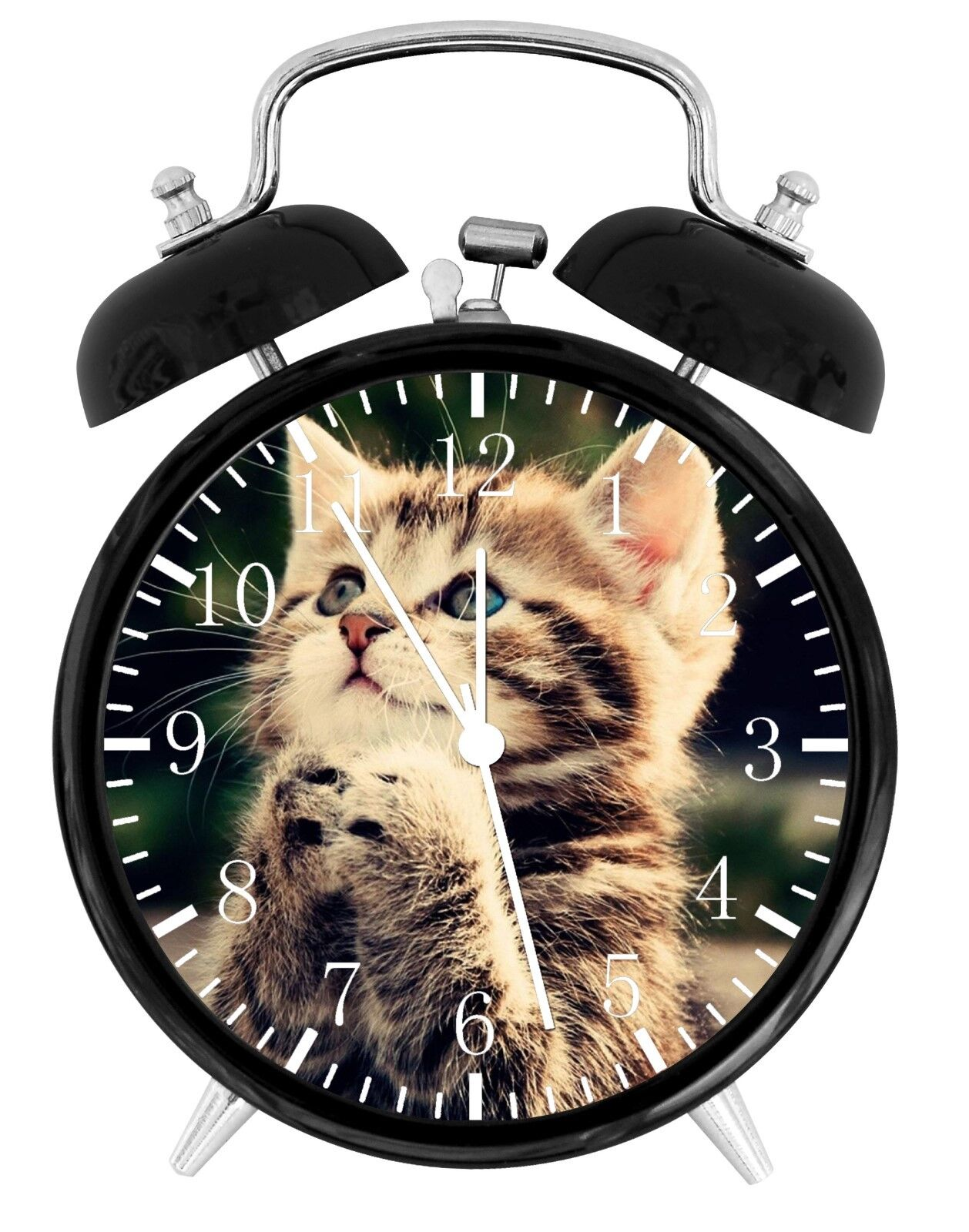 Cute Kitten Cat Alarm Desk Clock Home or Office Decor F77 Ni
