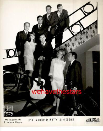 VINTAGE The Serendipity Singers POP FOLK GROUP 60s Publicity Portrait
