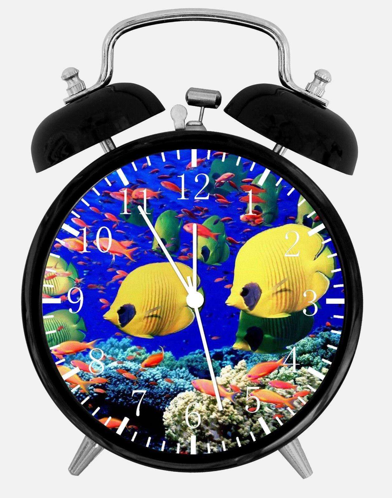 "Tropical Ocean Fish Alarm Desk Clock 3.75"" Room Office Decor E301 Nice For Gift"