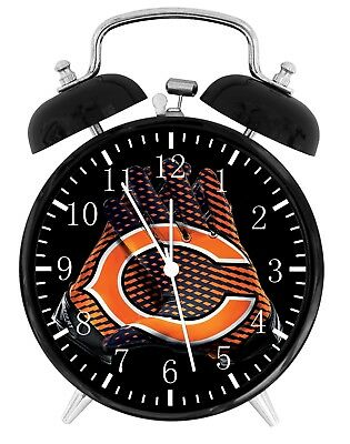 (  Chicago Bears Alarm Desk Clock Home or Office Decor F51 Nice Gift)
