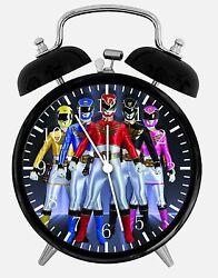 Power Rangers Alarm Desk Clock 3.75 Home or Office Decor E11 Nice For Gift