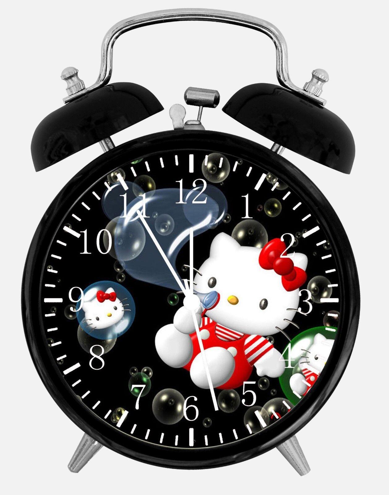 "Hello Kitty Alarm Desk Clock 3.75"" Room Office Decor W06 Will Be a Nice Gift"