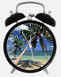 Palm Tree Beach Alarm Desk Clock 3.75 Home or Office Decor W274 Nice For Gift