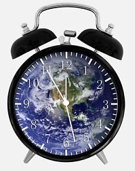 Earth Alarm Desk Clock 3.75 Home or Office Decor W285 Nice For Gift