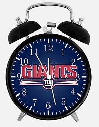 New York Giants Alarm Desk Clock 3.75 Home or Office Decor E442 Nice For Gift