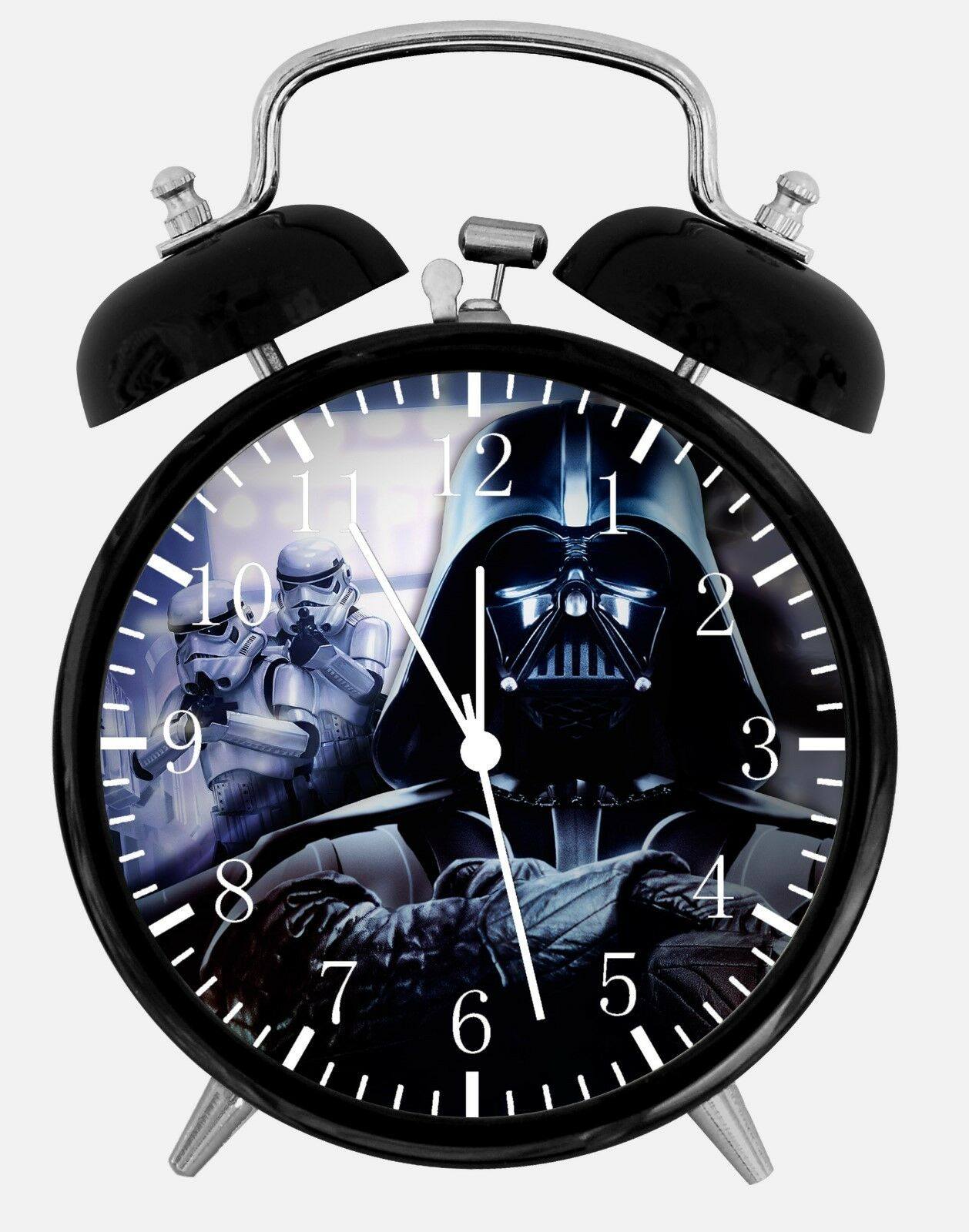 "Star Wars Darth Vader Alarm Desk Clock 3.75"" Home or Office Decor E448"