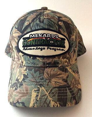 Menards Contractor Advantage Program Camo Cap Hat One Size Camouflage