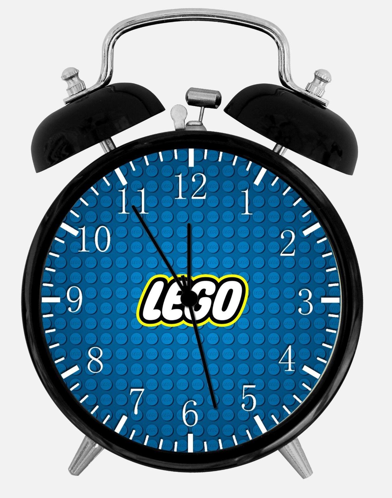 "Lego Bricks Alarm Desk Clock 3.75"" Home or Office Decor W458 Nice For Gift"