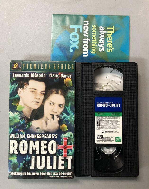 ROMEO & JULIET. VHS, GOOD condition. Leonardo DiCaprio, Claire Danes