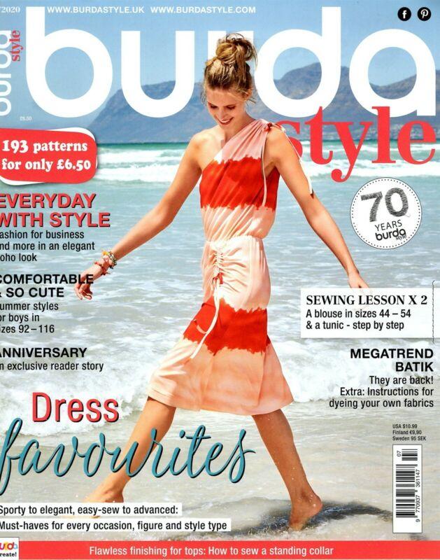 Burda Style Magazine July 2020 fashion sewing Comfortable Cute DRESS FAVORITES