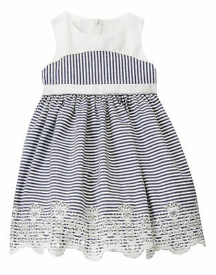 NWT Gymboree Marina Party Easter Striped Eyelet Dress Toddler Baby Girl
