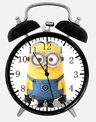 Minions Alarm Desk Clock 3.75 Home or Office Decor E75 Nice For Gift