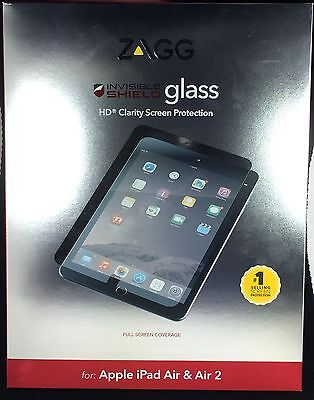 "ZAGG InvisibleSHIELD Tempered Glass Screen Protector for iPad Pro 9.7"" & Air 1/2"