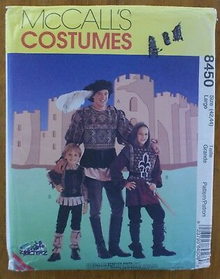 McCALL'S #8450 MEN'S SIZE 42-44 RENAISSANCE MEDIEVAL MADRIGAL COSTUME PATTERN - Madrigal Costume