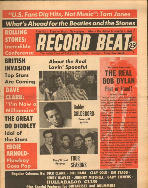 Record Beat Paper-March 1 1966 Bob Dylan-----9