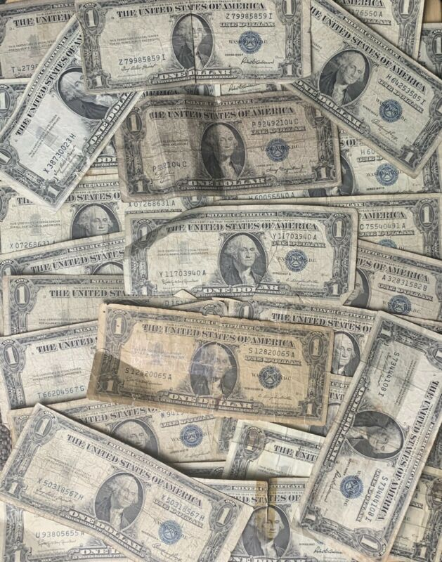 1935-1957 *LUCKY* $1 SILVER CERTIFICATE RARE BLUE ONE DOLLAR BILL LOT NOTE FRN*