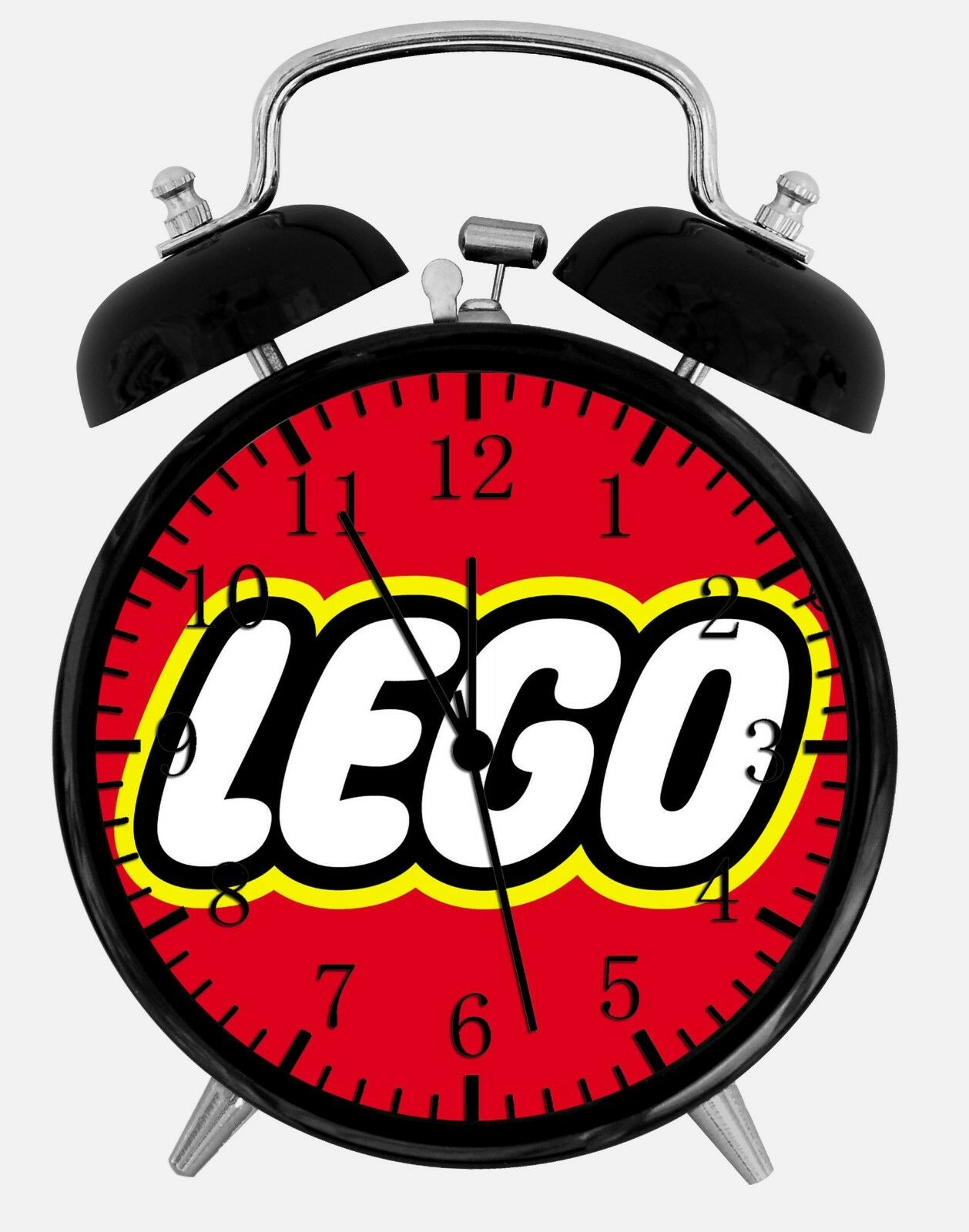 """Lego Alarm Desk Clock 3.75"""" Home or Office Decor W430 Nice For Gift"""