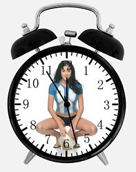 Sexy Soccer Girl Alarm Desk Clock 3.75 Home or Office Decor W305 Nice For Gift