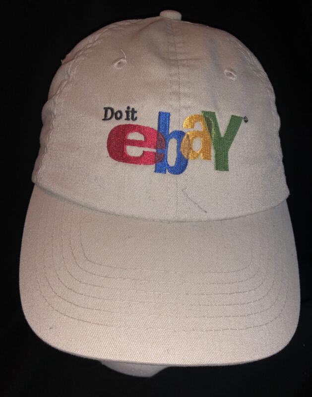 Vintage DO IT EBAY Logo Seller Buyer Cap Hat Khaki Beige Head Shots