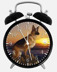 German Shepherd Alarm Desk Clock 3.75 Home or Office Decor Z50 Nice For Gift