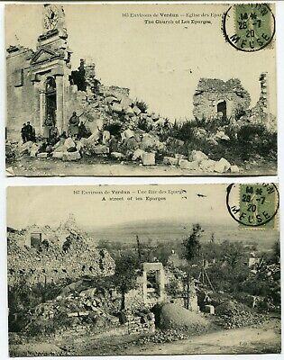 CPA - Lot de 2 Cartes Postales - France - Environs de Verdun