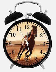 Beautiful Horse Alarm Desk Clock 3.75 Home or Office Decor E360 Nice For Gift