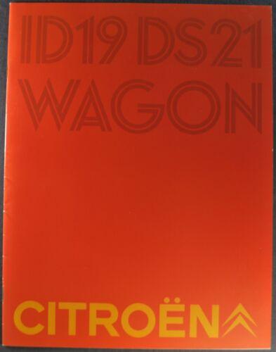1969 Citroen Brochure DS21 ID19 Sedan Pallas DS Wagon Excellent Original 69