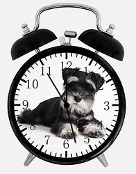 Miniature Schnauzer Alarm Desk Clock 3.75 Home or Office Decor E243 Nice Gift