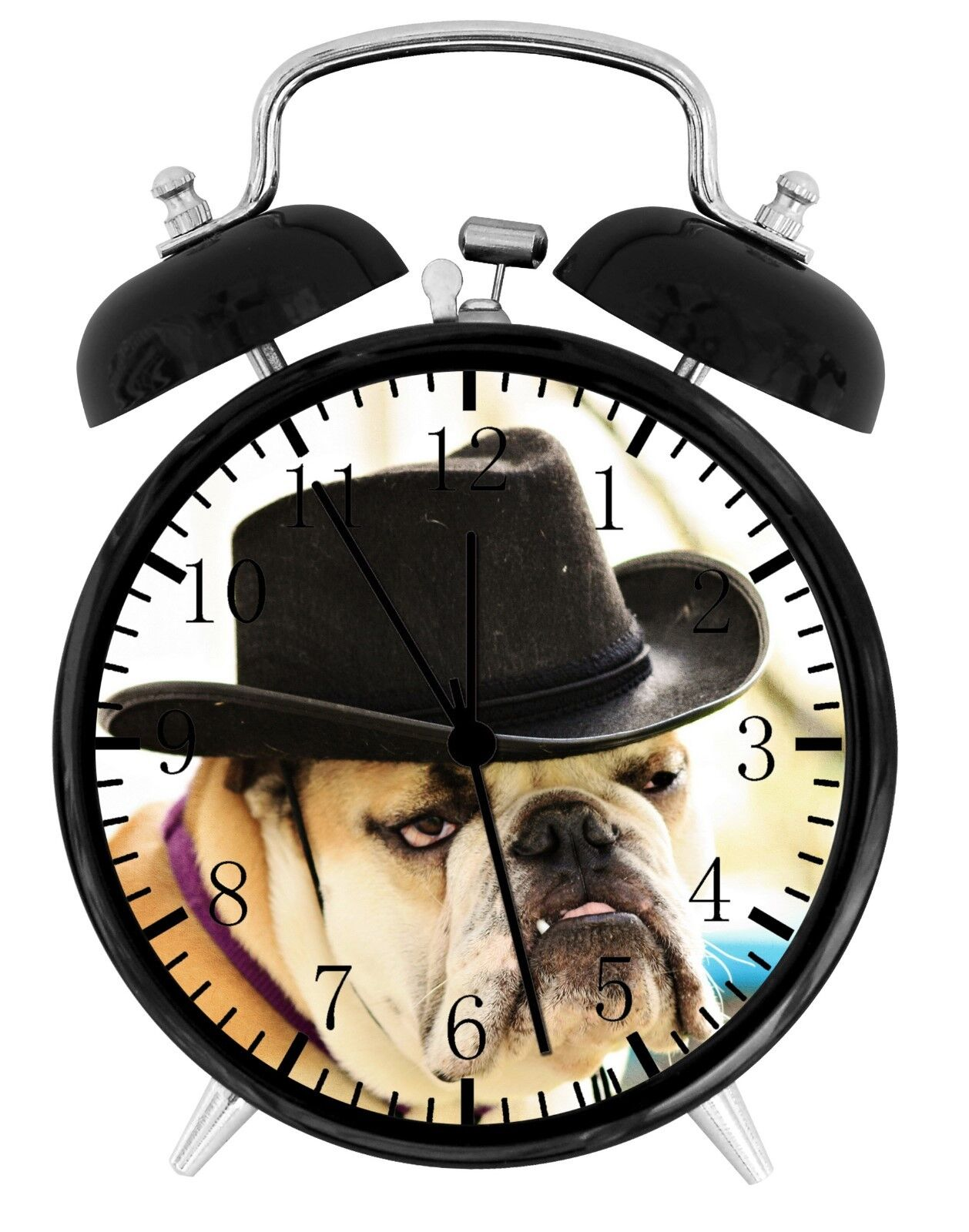 Cute Funny English Bull Dog Alarm Desk Clock Home or Office Decor F95 Nice Gift