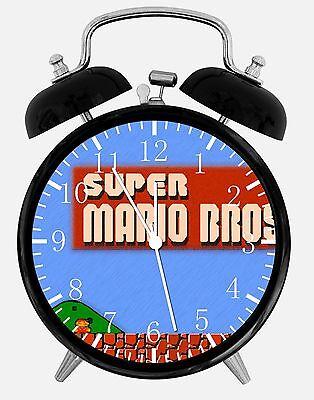 Old fashioned Super Mario Bros Alarm Desk Clock 3.75