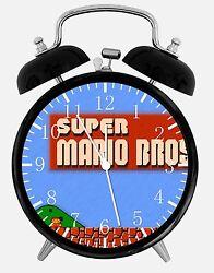 Old fashioned Super Mario Bros Alarm Desk Clock 3.75 Home or Office Decor E117