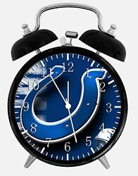Indianapolis Colts Alarm Desk Clock 3.75 Room Office Decor W25 Be A Nice Gift