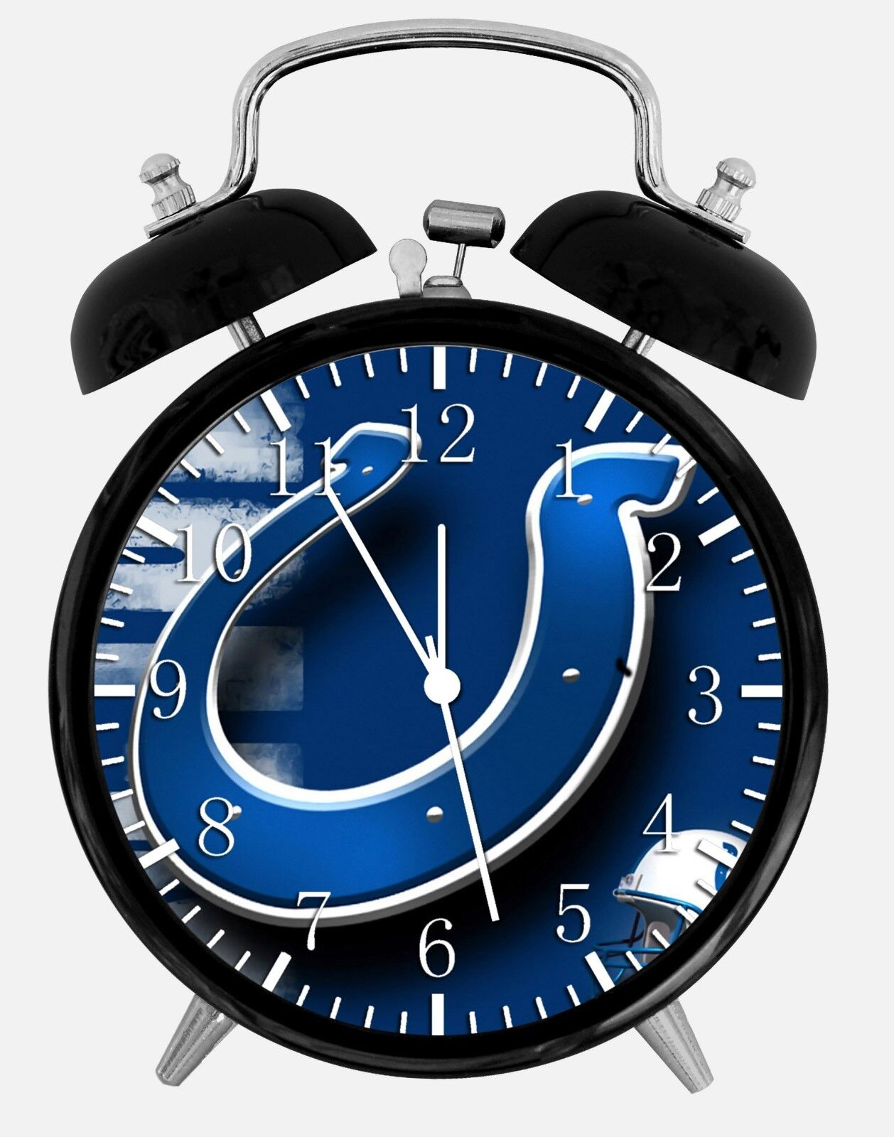 """Indianapolis Colts Alarm Desk Clock 3.75"""" Room Office Decor W25 Be A Nice Gift"""