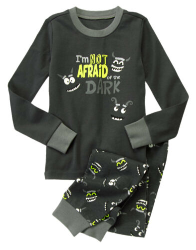 NWT Gymboree Monsters Not Afraid of the Dark Pajamas 2PC 18-24 Months Baby Boy