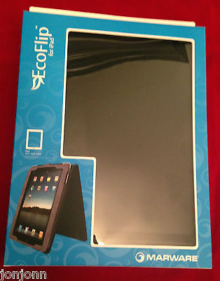 Marware Eco-flip for iPad - Black Leather. BRAND NEW. BEST PRICE ON EBAY. SALE