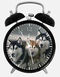 Siberian Husky Alarm Desk Clock 3.75 Home or Office Decor E415 Nice For Gift